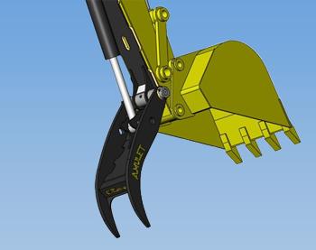 Amulet POWERBRUTE Hydraulic Excavator Thumb