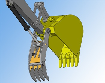 Amulet PowerClamp Hydraulic Excavator Thumb